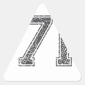 Gray Sports Jersey #71 Sticker
