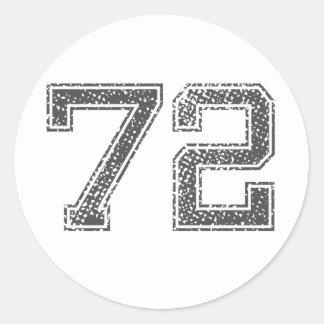 Gray Sports Jersey #72 Round Sticker