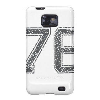 Gray Sports Jersey #76 Galaxy S2 Covers
