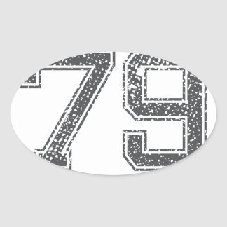 Gray Sports Jersey #79 Oval Stickers
