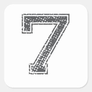 Gray Sports Jersey #7 Sticker