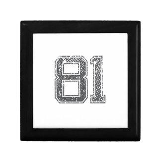 Gray Sports Jersey #81 Gift Box
