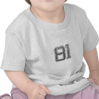 Gray Sports Jersey #81 Tee Shirt