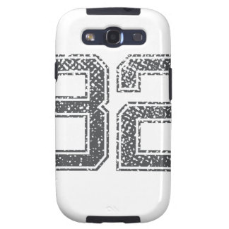 Gray Sports Jersey #82 Samsung Galaxy S3 Cases