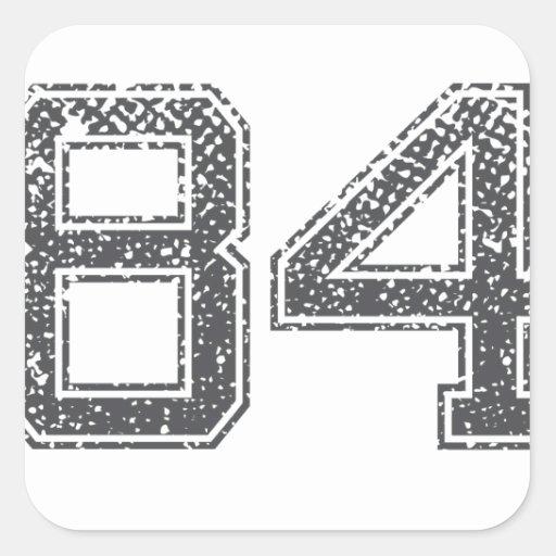 Gray Sports Jersey #84 Sticker