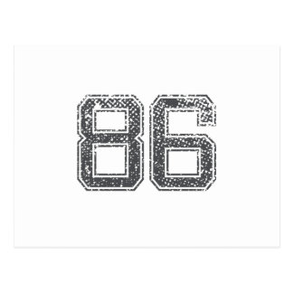 Gray Sports Jersey #86 Post Card