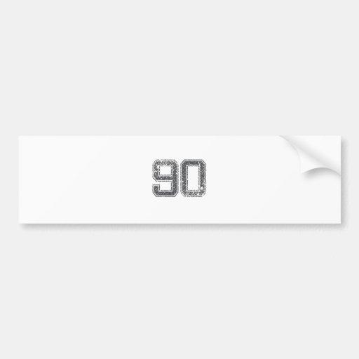 Gray Sports Jersey #90 Bumper Stickers
