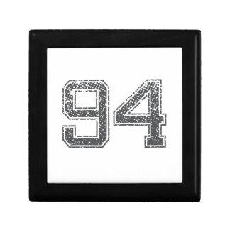 Gray Sports Jersey #94 Trinket Boxes