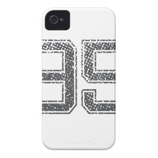 Gray Sports Jersey #95 iPhone 4 Covers