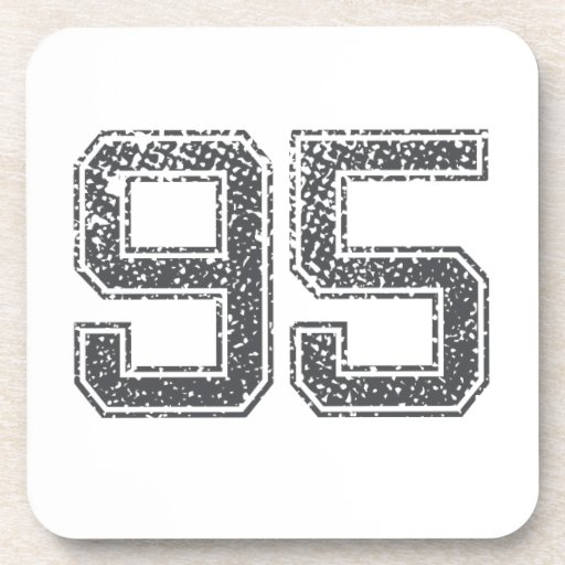 Gray Sports Jersey #95 Coasters