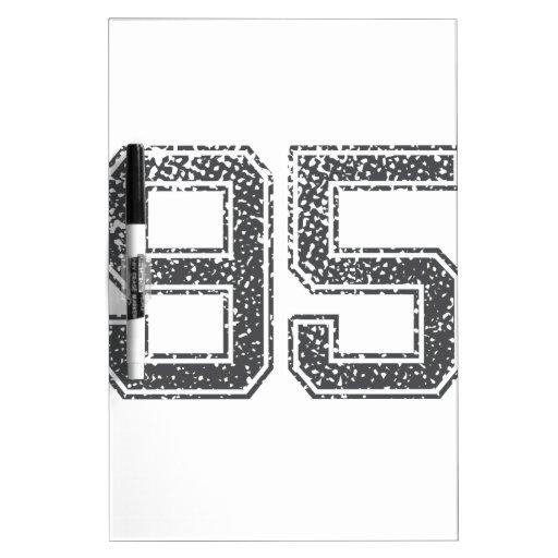 Gray Sports Jersey #95 Dry Erase Board