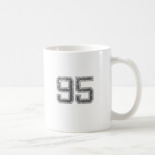 Gray Sports Jersey #95 Coffee Mug
