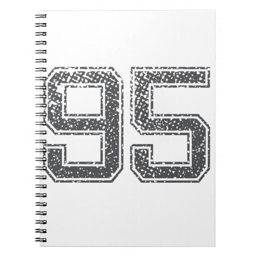 Gray Sports Jersey #95 Spiral Note Books