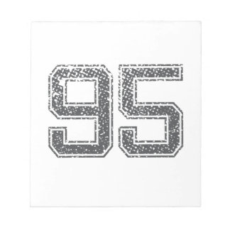 Gray Sports Jersey 95 Note Pad