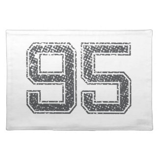 Gray Sports Jersey #95 Placemats