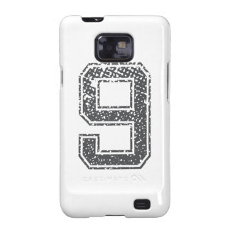 Gray Sports Jersey #9 Galaxy SII Cover