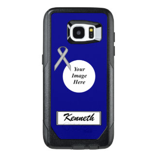 Gray Standard Ribbon Template by Kenneth Yoncich OtterBox Samsung Galaxy S7 Edge Case