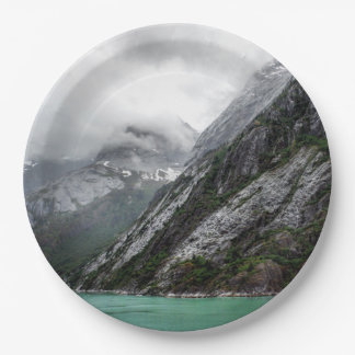 Gray Stone Mountain Paper Plate 9 Inch Paper Plate