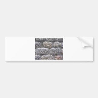 Gray stone wall background bumper sticker