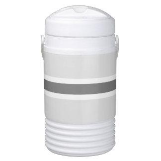 Gray Stripe Half Gallon Igloo Beverage Cooler