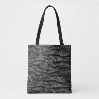 Gray Striped Camo Tote Bag