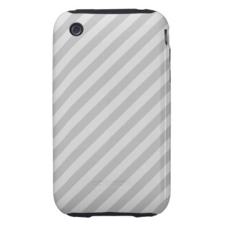 Gray Stripes. Tough iPhone 3 Cover