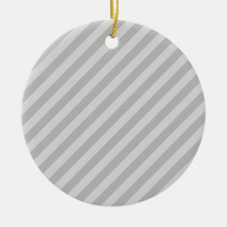 Gray Stripes Christmas Ornaments