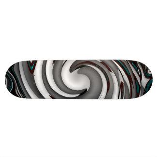 Gray Swirls Abstract Skateboard Deck