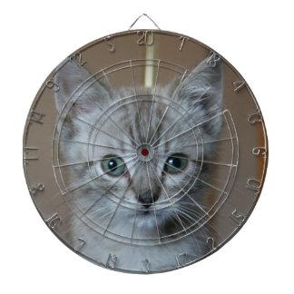Gray Tabby Kitten Dart Board