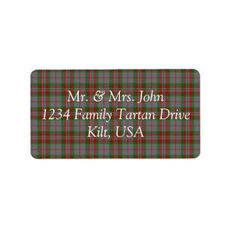 Gray Tartan Label Address Label