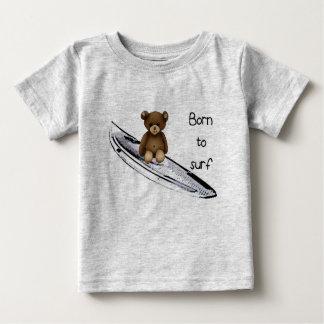 "Gray tee-shirt ""Born to surfing "" Baby T-Shirt"