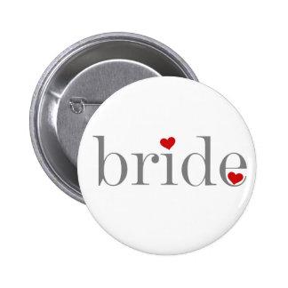 Gray Text Bride 6 Cm Round Badge