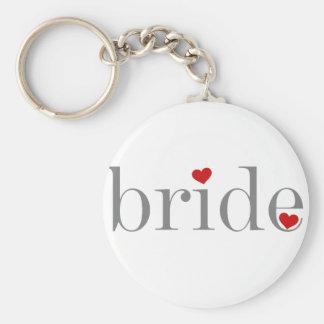 Gray Text Bride Key Chains