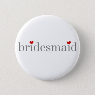 Gray Text Bridesmaid 6 Cm Round Badge