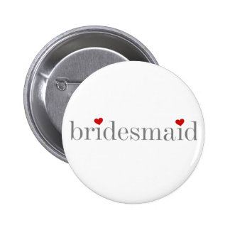 Gray Text Bridesmaid 6 Cm Round Badge