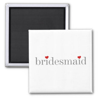 Gray Text Bridesmaid Magnet
