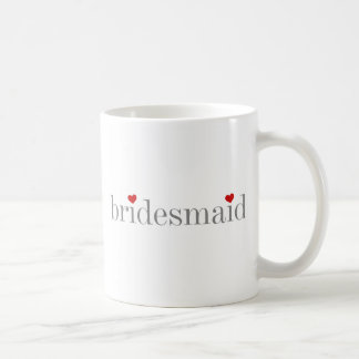 Gray Text Bridesmaid Coffee Mug
