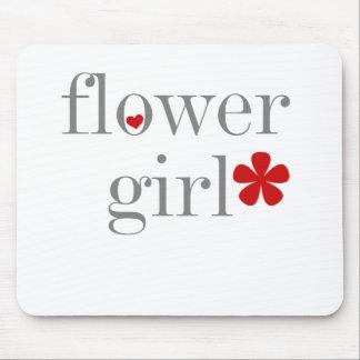 Gray Text Flower Girl Mouse Mat