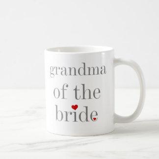 Gray Text Grandma of Bride Coffee Mug