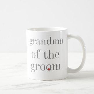 Gray Text Grandma of Groom Coffee Mugs
