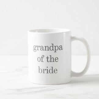Gray Text Grandpa of Bride Coffee Mugs
