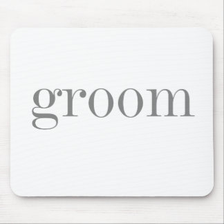 Gray Text Groom Mouse Pad