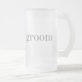 Gray Text Groom Coffee Mug