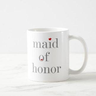 Gray Text Maid of Honor Mugs