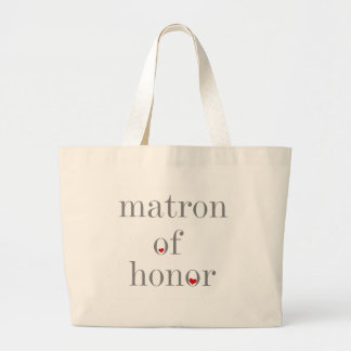 Gray Text Matron of Honor Tote Bags