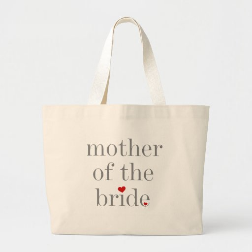 Gray Text Mother of Bride Tote Bags