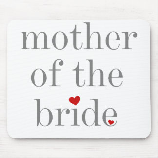 Gray Text Mother of Bride Mouse Mat