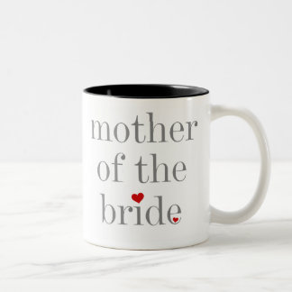 Gray Text Mother of Bride Two-Tone Mug