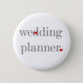 Gray Text Wedding Planner 6 Cm Round Badge
