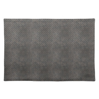 Gray Textured Industrial Metal Placemats